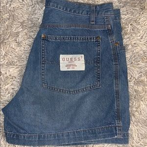 Guess jean shorts vintage medium wash denim
